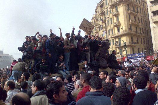 Proteste auf dem Tahrir-Platz in Kairo - damals noch gegen Ex-Präsident Mubarak.