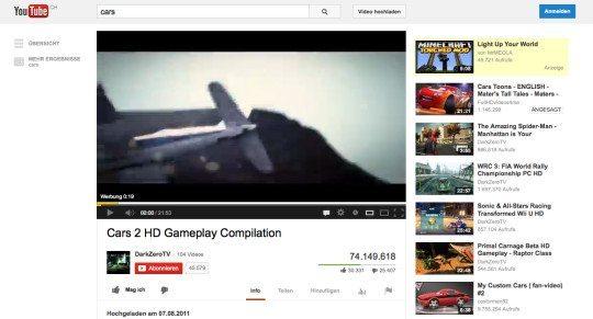 Ein YouTube-Video mit Werbung.