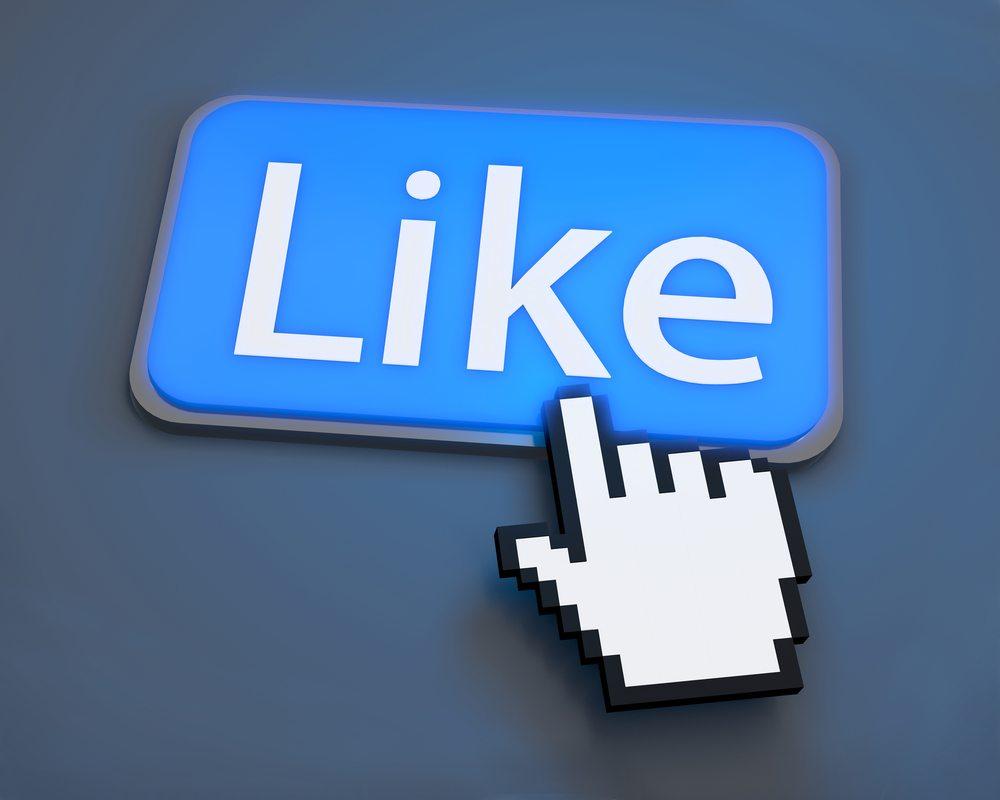 """""""Like""""-Button. (Bild: Sarawut Aiemsinsuk / Shutterstock.com)"""