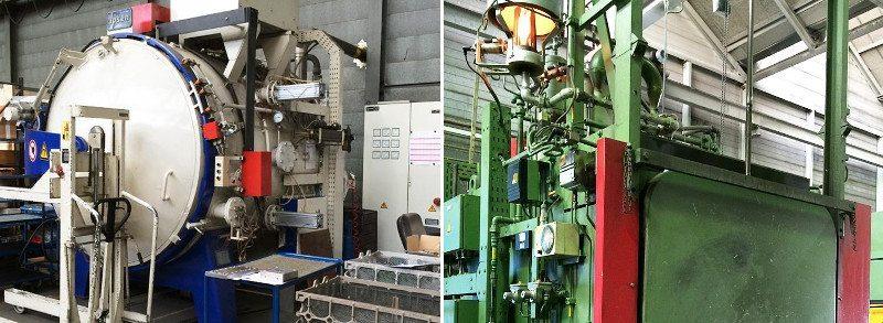Links: Nikotrieren – Rechts: Härten-Vakuum (thermisch)