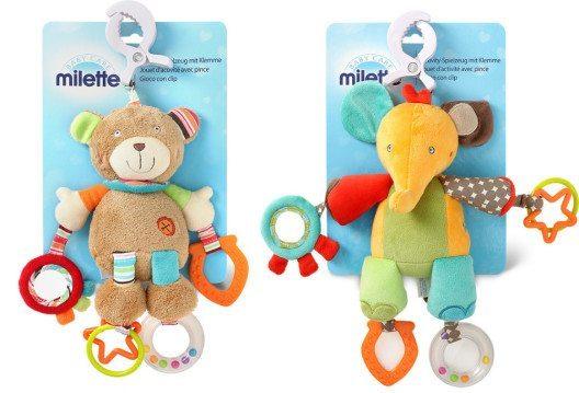 Activity-Plüsch-Spielzeug von Milette (Bild: obs/Migros-Genossenschafts-Bund)