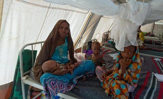 Im örtlichen Spital werden schwer mangelernährte Kinder behandelt. (Bild: Médecins Sans Frontières / Ärzte ohne Grenzen (MSF))