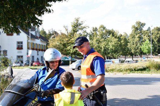 Die Schaffhauser Polizei führt diese Woche eine Sicherheitsaktion zu Schulbeginn durch. (Bild: © Schaffhauser Polizei)