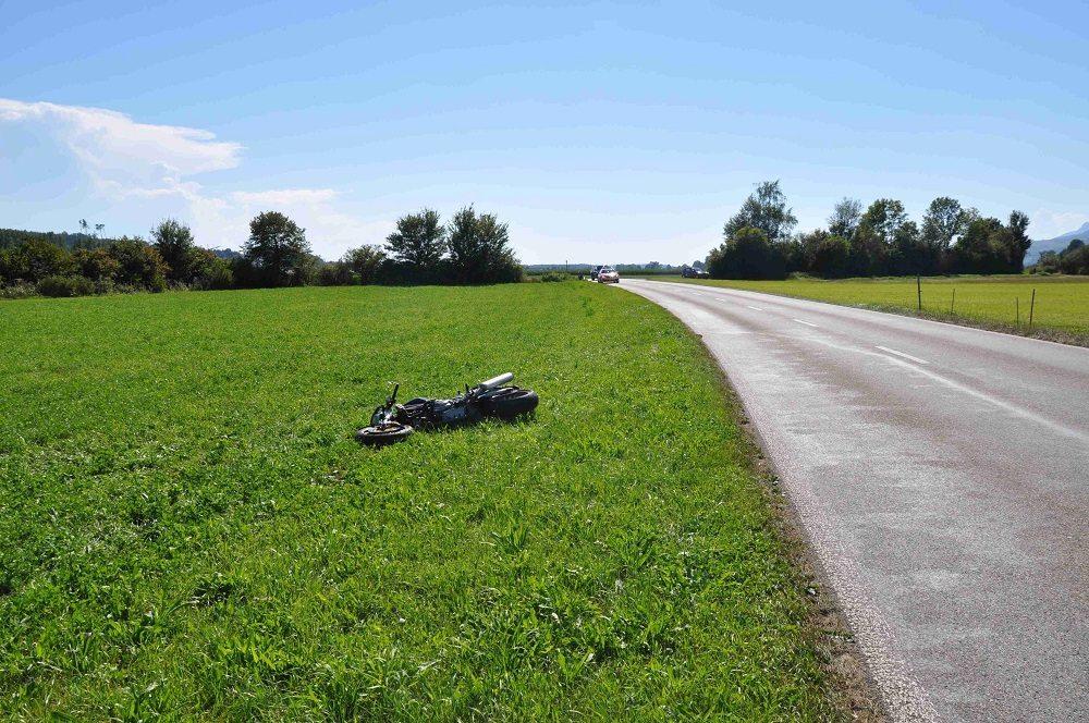 Zwischen Kestenholz und Niederbuchsiten kam am Samstagnachmittag ein Motorradlenker zu Fall.