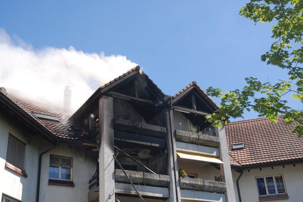 Balkonbrand mit hohem Sachschaden in Soloturn
