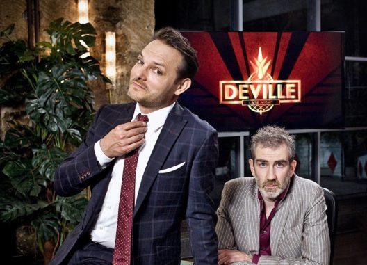 Deville - Late-Night-Show (Dominic Deville und Kabarettist Manuel Stahlberger) (Bild: © SRF/Marcus Gyger NO SALES NO ARCHIVES)