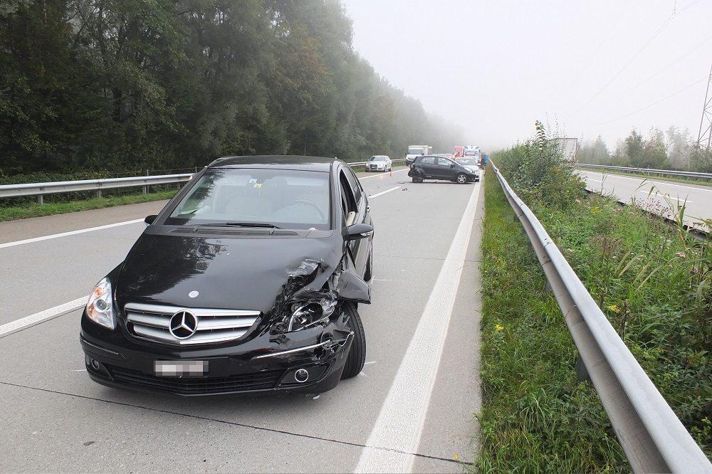 Unfallort A13 (Bild: © Kantonspolizei St.Gallen)