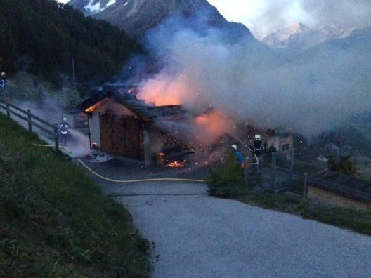 Aufnahme vom Brand