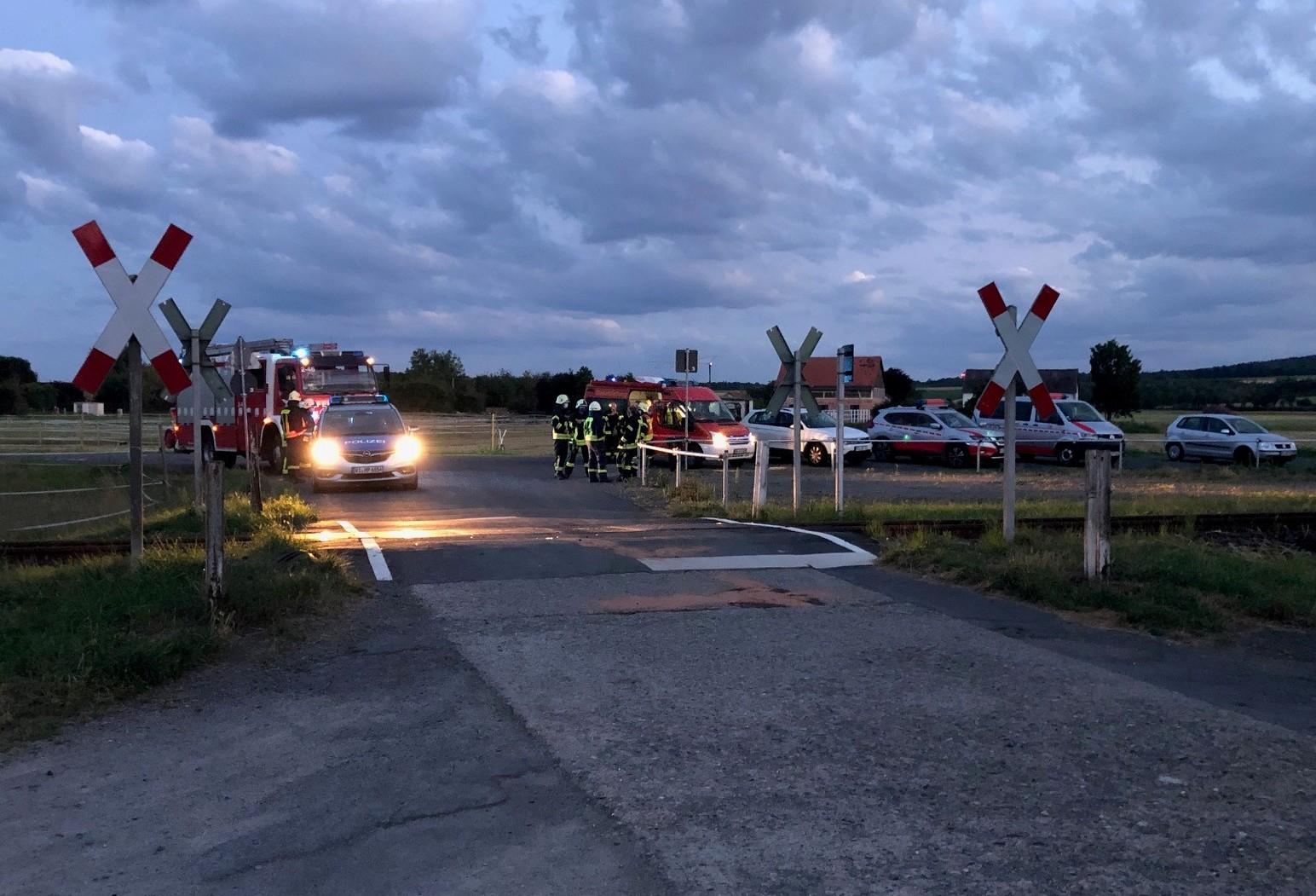 Unfallort Bahnübergang am Pappelweg in Fritzlar; Quelle: Bundespolizei