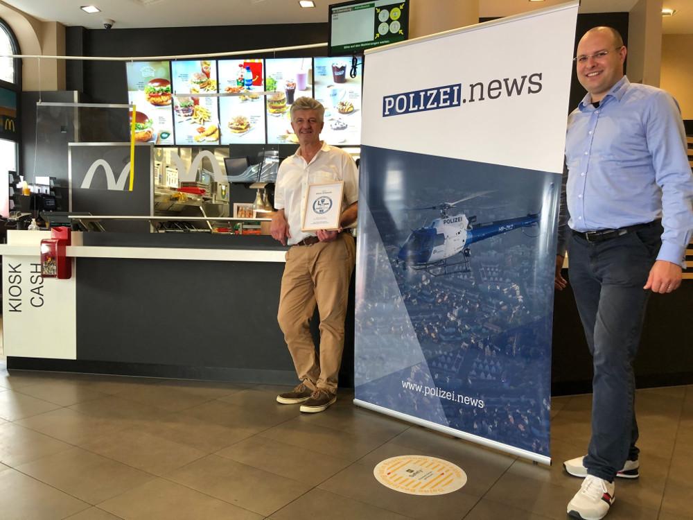 Karl FRITZ, Mc Donald's (l.) und Philipp Ochsner, Polizei.news (r.)