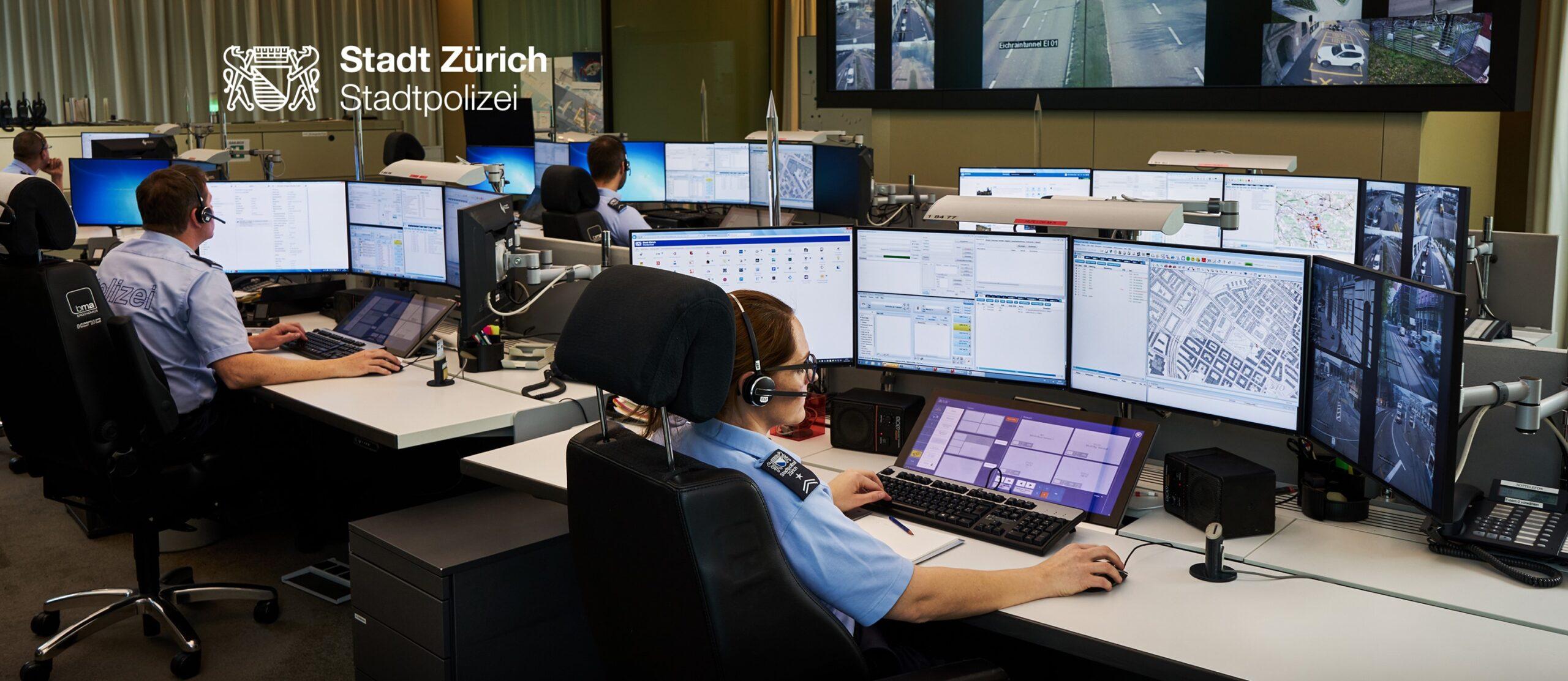 Im Stadtgebiet Zürich übernimmt die Stadtpolizei Zürich Aufgaben rund um Kriminalität, Sicherheit und Verkehr. (Bild: Stapo ZH)