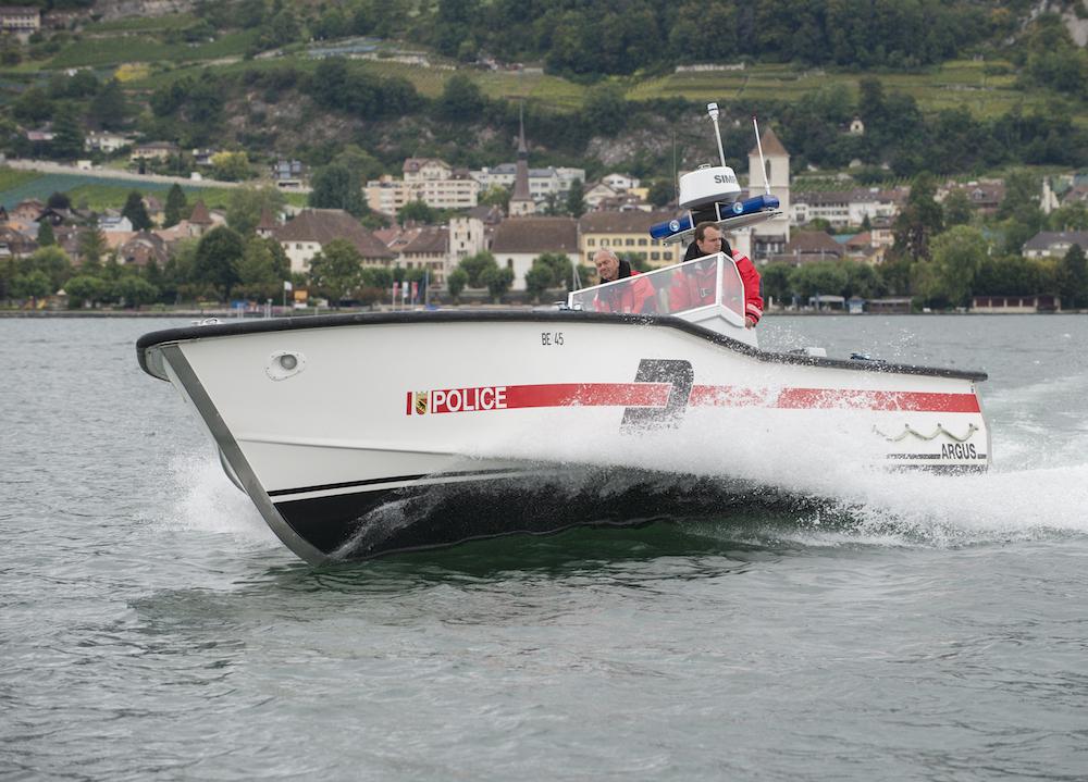 Die Seepolizei der Kantonspolizei Bern ist für die Sicherheit auf den Gewässern im Kantonsgebiet zuständig. (Bildquelle: Kapo Bern)