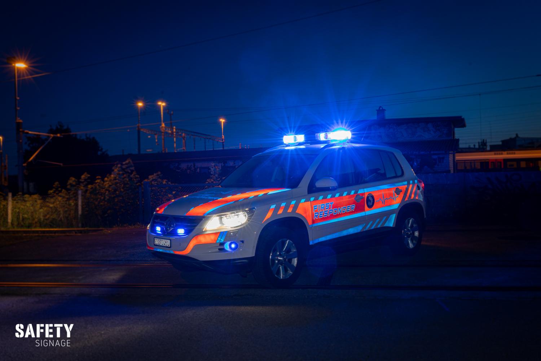 First Responder Fahrzeug Stützpunkt Feuerwehr Meilen Highly Reflective